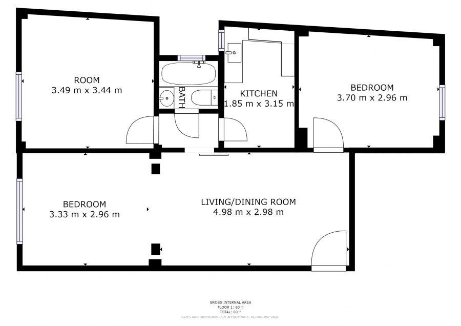 Διαμέρισμα Amenity A0001 Κάτοψη   VR VIEW